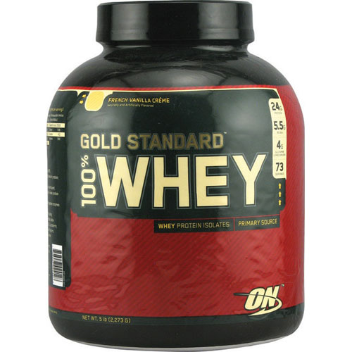100% Whey Protein - Gold Standard French Vanilla Creme 5 lbs - astronutrition.com