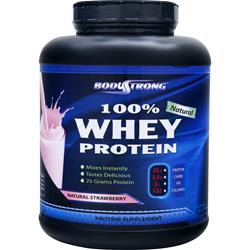 BODYSTRONG 	100% Whey Protein - Natural Strawberry 5 lbs