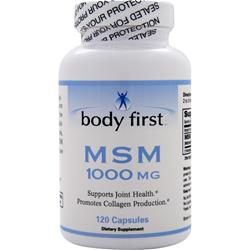 BODY FIRST 	MSM (1000mg) 120 Capsules