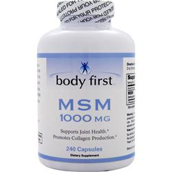 BODY FIRST 	MSM (1000mg) 240 Capsules
