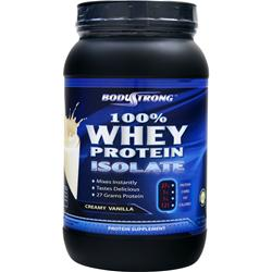 BODYSTRONG 	100% Whey Protein Isolate Creamy Vanilla 2 lbs