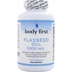BODY FIRST 	Flax Seed Oil (1000mg) 120 Softgels