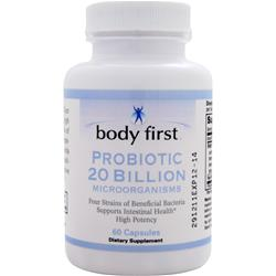 BODY FIRST 	Probiotic 20 Billion 60 Capsules