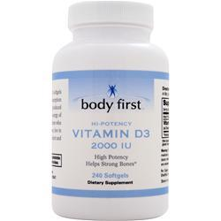 BODY FIRST 	Vitamin D3 (2000IU) 240 Softgels