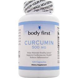 BODY FIRST 	Curcumin (500mg) 120 Capsules