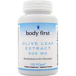 BODY FIRST 	Olive Leaf Extract (500mg) 120 vCapsules