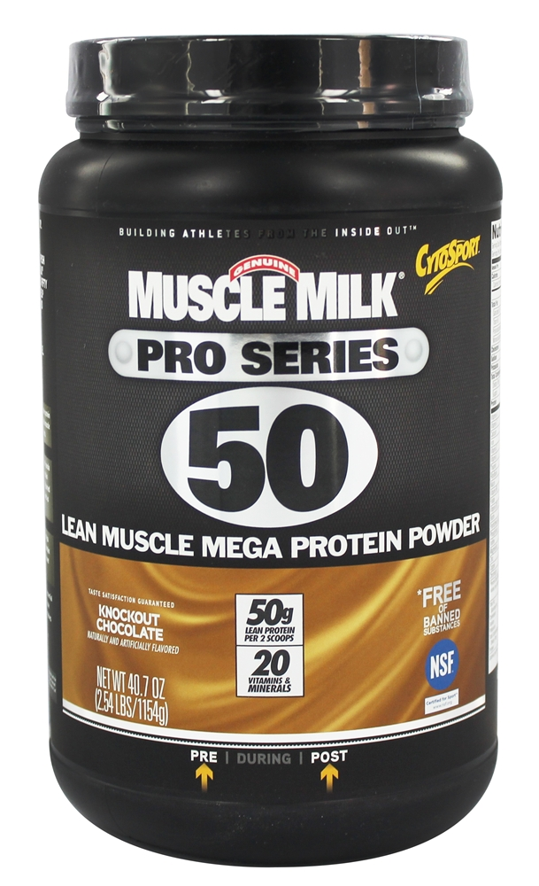 Muscle Milk - Pro Series 50 Knockout Chocolate 2.54 lbs