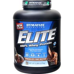 DYMATIZE NUTRITION Elite 100% Whey Protein Chocolate Cake Batter 5 lbs