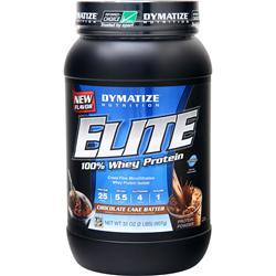 DYMATIZE NUTRITION Elite 100% Whey Protein Chocolate Cake Batter 2 lbs