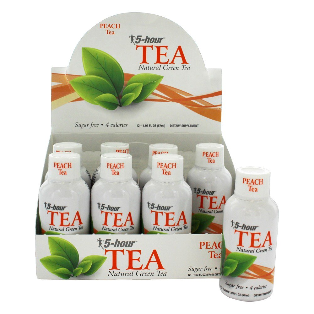5 Hour Energy 5-Hour Tea - Natural Green Tea Peach Tea 12 bttls