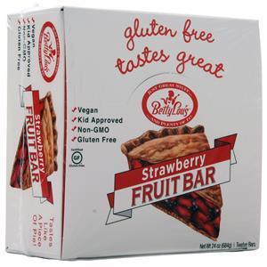 Betty Lou's Betty Lou's Gluten Free Fruit Bar Strawberry 12 bars