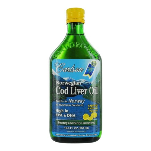 Carlson Cod Liver Oil Lemon 500 ml - Astronutrition.com