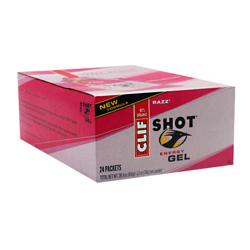 CLIF BAR Clif Shot Razz - New Formula - 24 packets