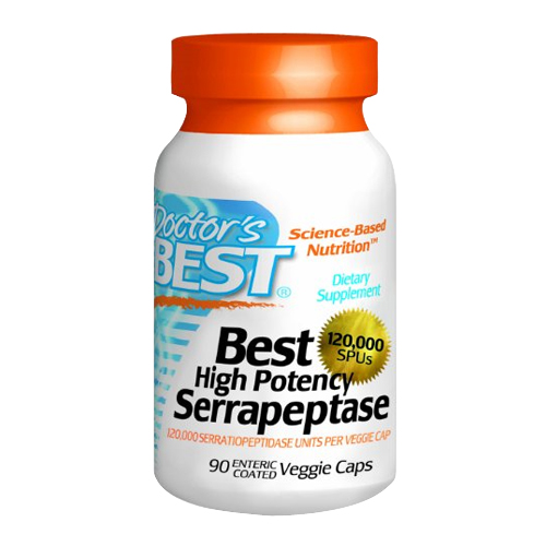 Doctor's Best Best High Potency Serrapeptase - 120,000 Units 90 vcaps