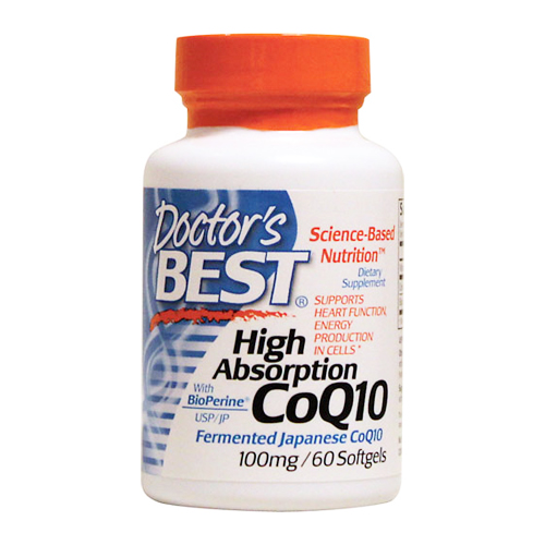 Doctor's Best High Absorption CoQ10 w/ Bioperine - 100 mg 60 softgels