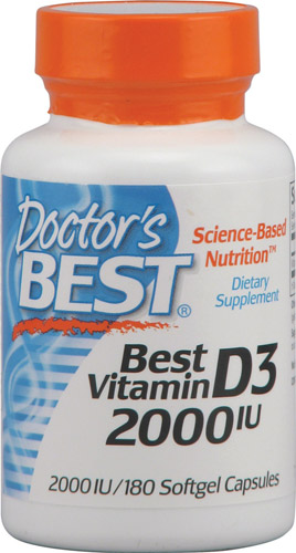Best Vitamin D3 (2000IU) 180 sgels