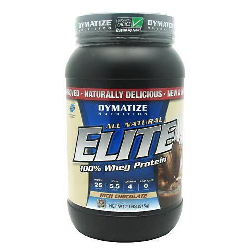 DYMATIZE NUTRITION Elite Whey Protein Isolate (All Natural) Rich Chocolate 2.06 lbs - astronutrition.com