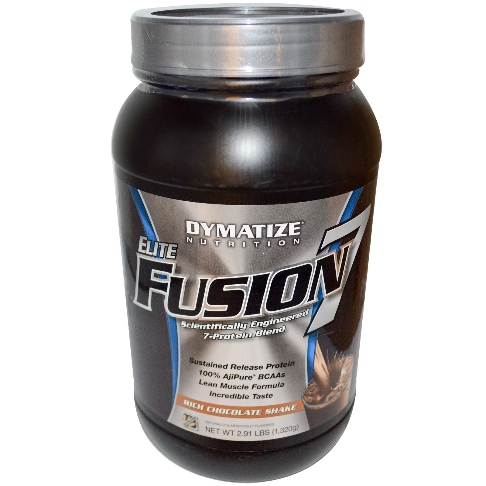 DYMATIZE NUTRITION Elite Fusion 7 Rich Chocolate Shake 2 lbs