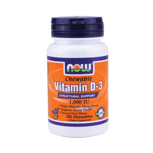 Now Chewable Vitamin D-3 - 180 tabs