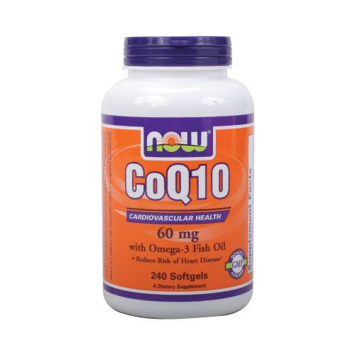 Now CoQ10 with Omega-3 Fish Oil - 240 softgels