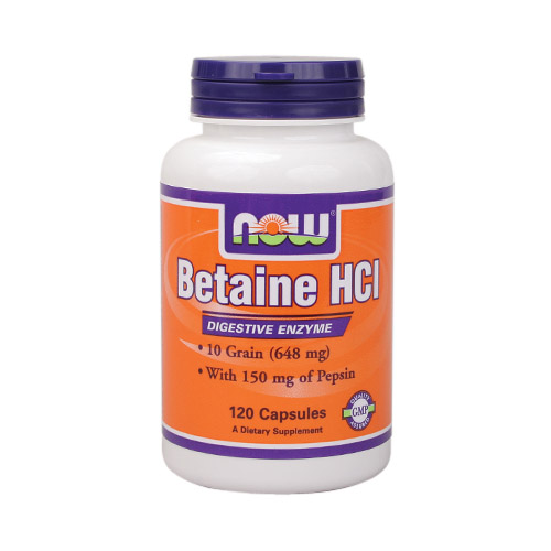 Now Betaine HCl - 120 caps