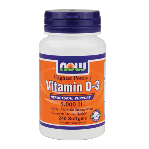 Now Vitamin D-3 - 5000 IU 240 softgels