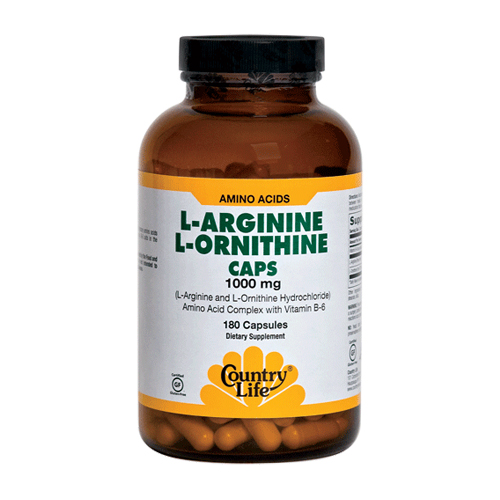 Country Life L-Arginine L-Ornithine (1000mg) 180 caps