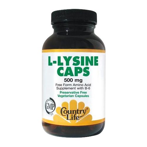 Country Life L-Lysine - 500 mg 100 vcaps