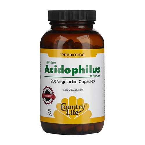 Country Life Acidophilus with Pectin - 250 vcaps