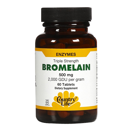 Country Life Bromelain (500mg) 2000 GDU 60 tabs