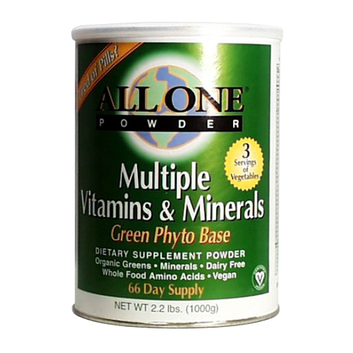 All One Multiple Vitamins & Minerals - Green Phyto Base - 2.2 lbs