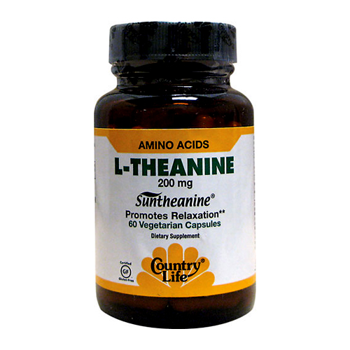 Country Life L-Theanine - 200 mg 60 vcaps