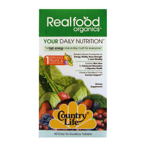 Country Life Real Food Organics Your Daily Nutrition 60 tabs