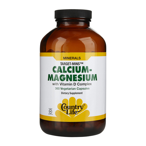 Country Life Target-Mins - Calcium-Magnesium with Vitamin D 360 vcaps