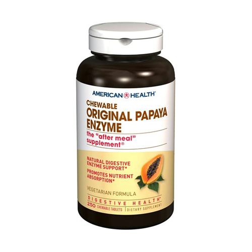American Health Chewable Original Papaya Enzyme - 250 tabs