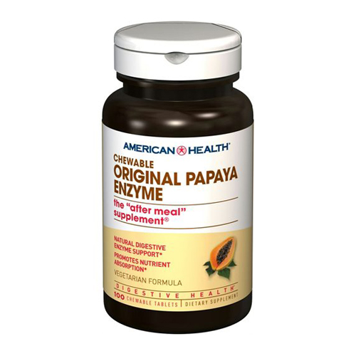 American Health Chewable Original Papaya Enzyme 100 tabs