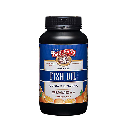 Barlean's Fresh Catch Fish Oil Orange 250 sgels