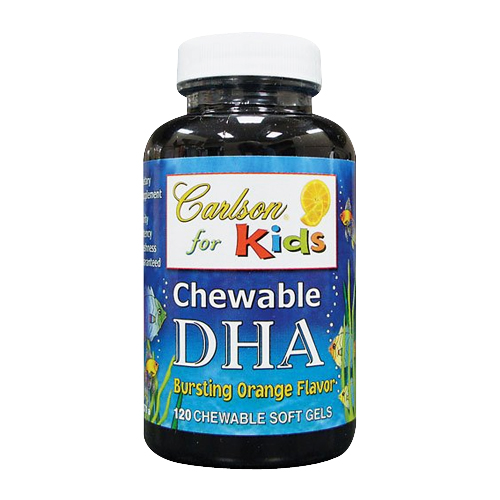 Carlson for Kids - Chewable DHA Bursting Orange 120 sgels