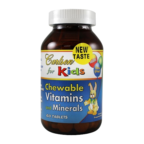 Carlson for Kids - Chewable Vitamins and Minerals 60 tabs