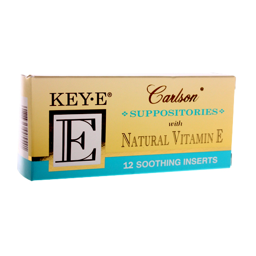 Carlson Key-E Suppositories with Natural Vitamin E - 12 pack