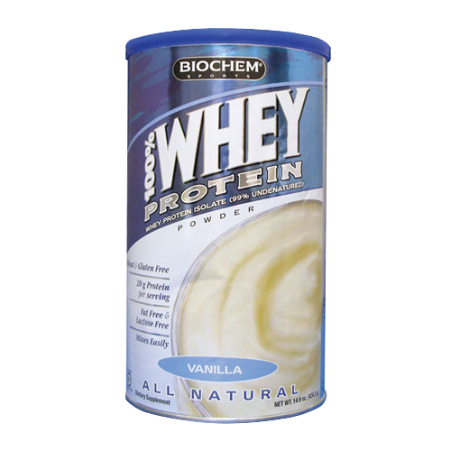 BioChem 100% Whey Protein - All Natural Vanilla 424.2 gr