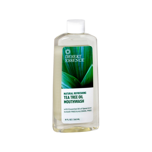 Desert Essence Tea Tree Oil Mouthwash (Sugar & Alcohol Free) Spearmint 8 fl.oz