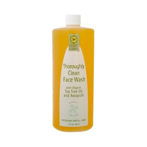 Desert Essence Thoroughly Clean Face Wash - Original (Oily & Combination Skin) Tea Tree Oil and Awapuhi 32 fl.oz