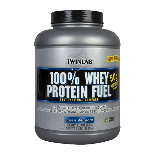 TwinLab 100% Whey Protein Fuel Cookies & Cream 5 lbs