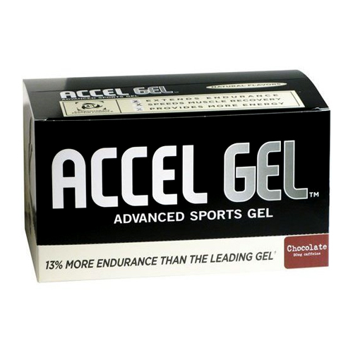 Pacific Health's Accel Gel Chocolate w/ Caffeine 24 pckts
