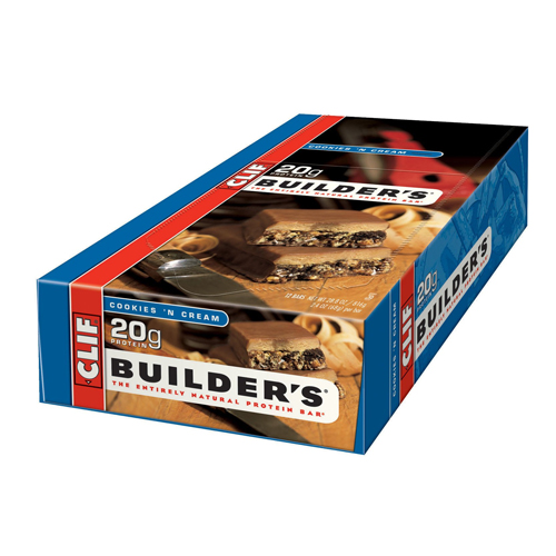 Clif Bar Builder's Bar Cookies & Cream 12 bars