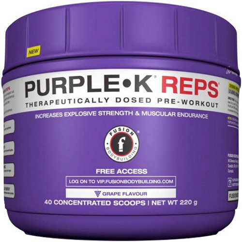 Fusion Bodybuilding Purple K Reps - 220g (Grape)