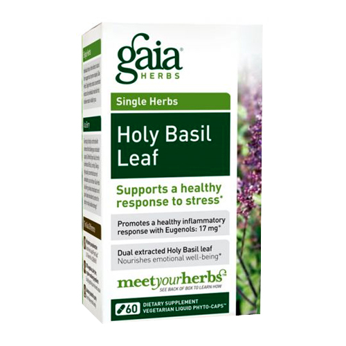 Gaia Herbs Single Herbs - Holy Basil Leaf - 60 vcaps