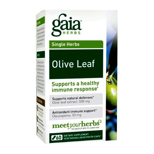 Gaia Herbs Single Herbs - Olive Leaf - 60 vcaps