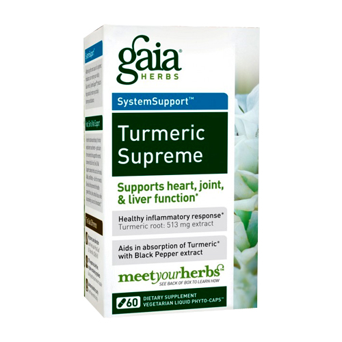 Gaia Herbs System Support - Turmeric Supreme - 60 vcaps